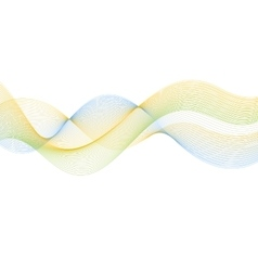 Abstract lines wavy bright background vector