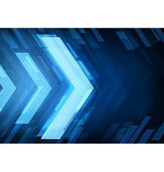 abstract technology arrows vector image