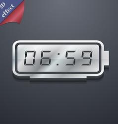 alarm clock icon symbol 3D style Trendy modern vector image vector image