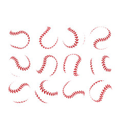baseball ball lace spherical softball realistic vector image