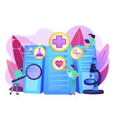 big data healthcare concept vector image