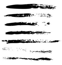 Black brush strokes2 vector
