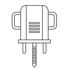 Boer drill icon outline vector