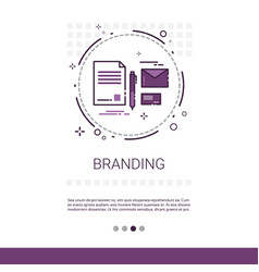 Branding project development startup banner vector