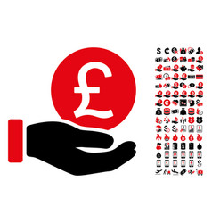 british pound coin payment icon with 90 bonus vector image