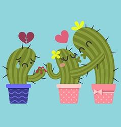 BrokenHeart Cactus vector image