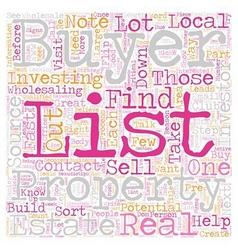 Build Your Buyers List text background wordcloud vector