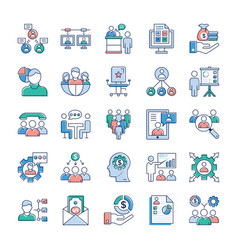 business and jobs icons pack vector image