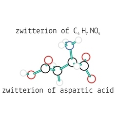 C4H7NO4 zwitterion aspartic acid amino molecul vector