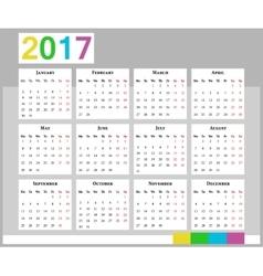 Calendar Week starts on Monday vector