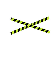 caution yellow tape vector image