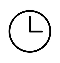 clock icon - iconic design vector image