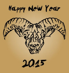 Cninese new year 2015 wooden goat vector