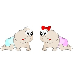 Crawl babies vector