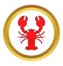 Crayfish icon cartoon style vector