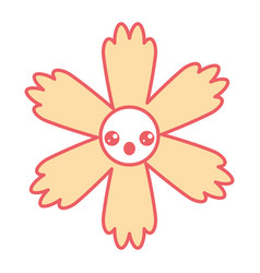cute cartoon happy flower kawaii adorable vector image
