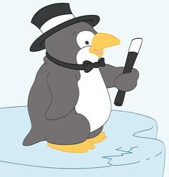 Dapper Penguin vector image vector image