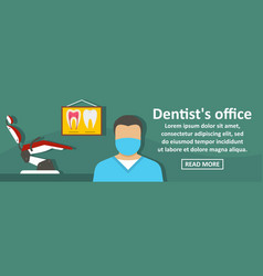 dentist office banner horizontal concept vector image