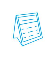 Desk calendar linear icon concept desk calendar vector