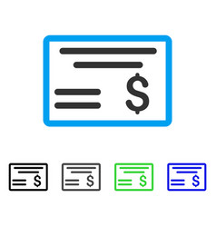 Dollar cheque flat icon vector