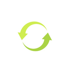 eco logotype recycling icon with green arrows in vector image