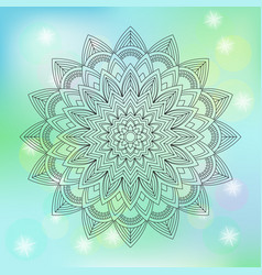 Floral mandala on abstract background vector