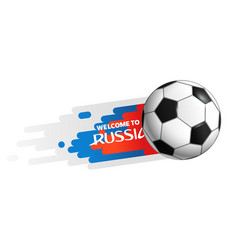 flying soccer ball isolated on white background vector image