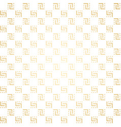 golden and white seamless simple pattern vector image