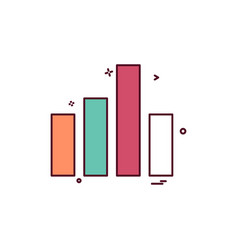 graph icon design vetor vector image
