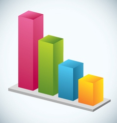 Growth Bar Graph vector