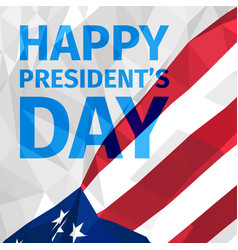 happy presidents day greeting card vector image