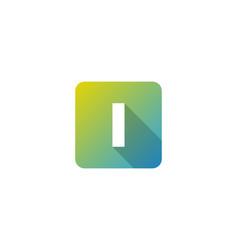 I modern gradation shadow letter logo icon design vector