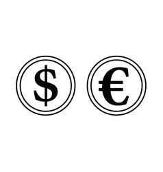 icon of stack of coins vector image