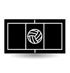 Icon playground volleyball vector