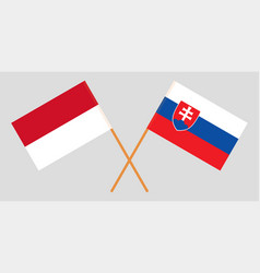 Indonesian and slovakian flags vector