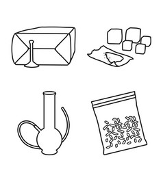 Isolated object narcotic and medical icon vector