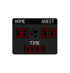 isolated soccer scoreboard icon vector image
