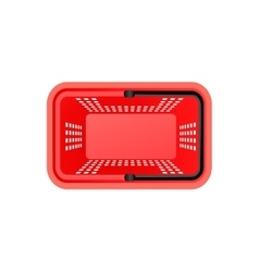 Isolated Supermarket Basket Top View vector