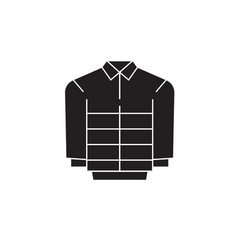 Leather jacket black concept icon leather vector