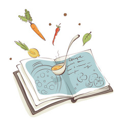 Magic cookbook vector