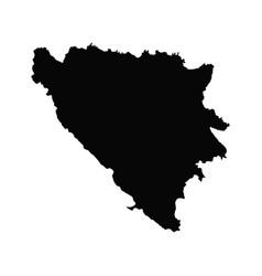 Map bosnia and herzegovina isolated vector