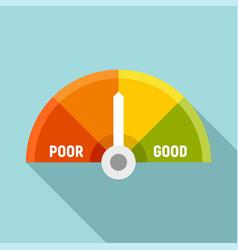 Medium credit score icon flat style vector