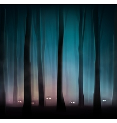 Monsters in forest vector
