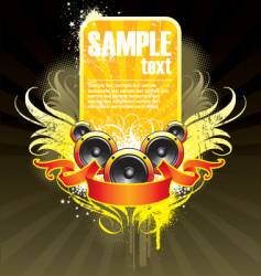 musical theme with loudspeaker vector image