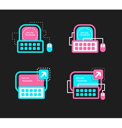 Online mentorship concept logo online training vector
