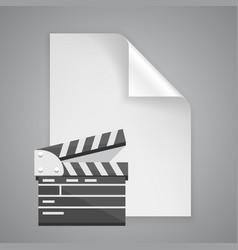paper symbol film vector image