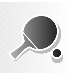 ping pong paddle with ball new year vector image