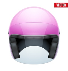 Pink Female Motorcycle Helmet with glass visor vector image