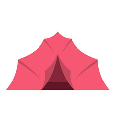 pink tent for camping icon isolated vector image