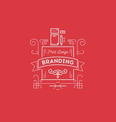 print design branding bage template for design vector image